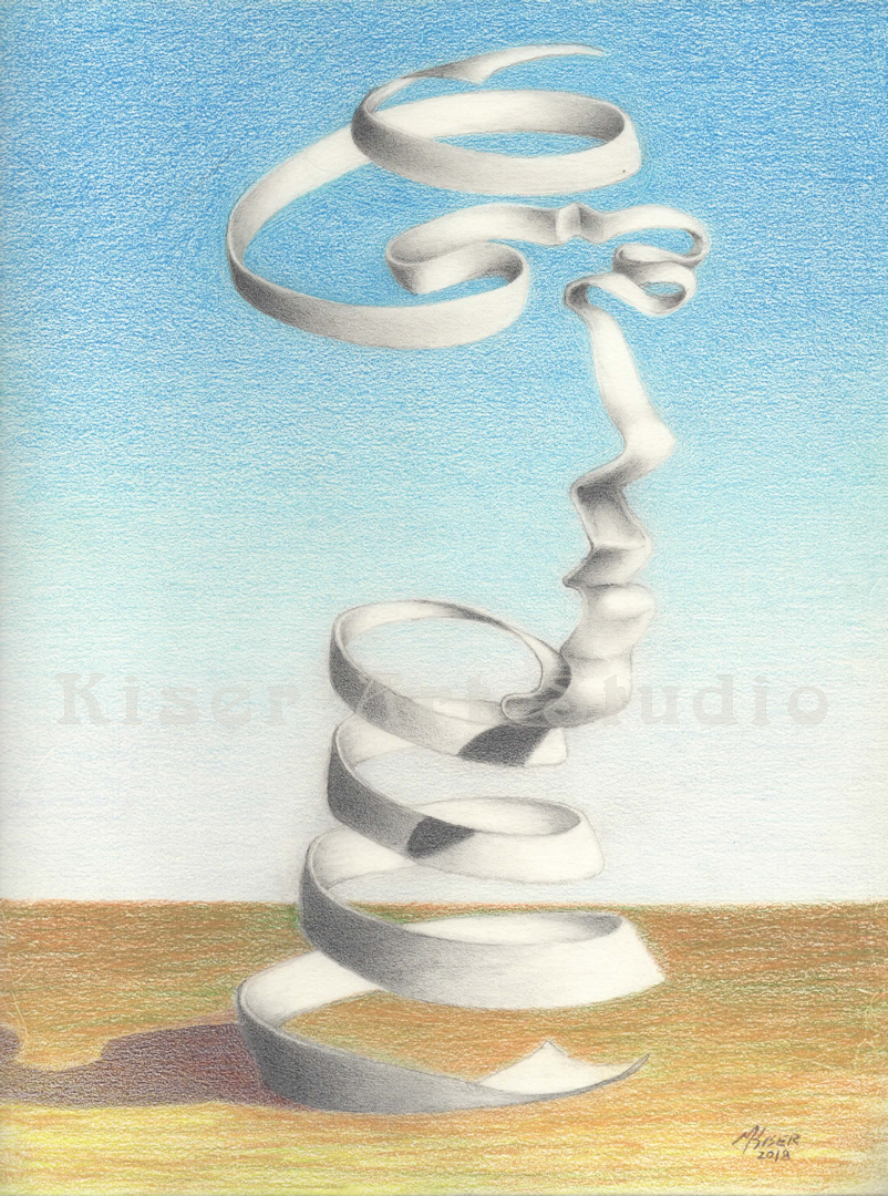 Prismacolor pencil drawing, Facing Springs, by Marty Kiser