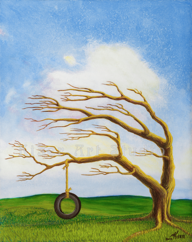 Acrylic on Canvas, Childhood's End, by Marty Kiser